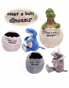 ADOPT-A-BABY-DINOSAUR-IN-EGG-SOFT-PLUSH-CUDDLY-TOY-GREAT-GIFT-FOR-KIDS-TEDDY