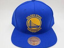 Golden State Warriors Wool Solid Blue Mitchell   Ness NBA Retro Snapback Hat  Cap 71f73c1287c