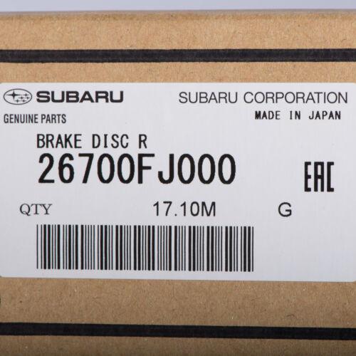 OEM 12-18 Subaru Rear Brake Rotor Set of 2 Forester Impreza Crosstrek 26700FJ000