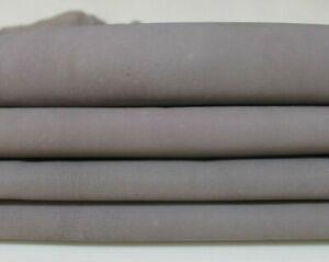 UNDYED crust Gray chrome dye Italian Goatskin leather skin 5sqf 1.0mm #A6002