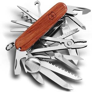 veritable couteau suisse victorinox swisschamp bois 31 outils neuf ebay. Black Bedroom Furniture Sets. Home Design Ideas