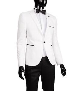 stage Slim Fit sakko Costume Suit mariage costume Blanc blouse Homme En Pour qvfarwq