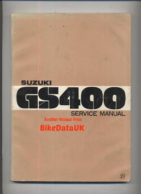 REPAIR M372 WORKSHOP MANUAL SUZUKI GS400 TWINS DOHC 77-78 CLYMER ...