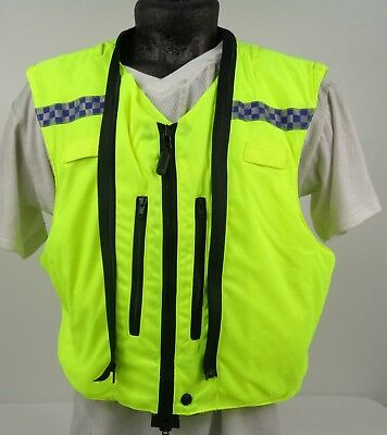 X Police Hi Vis Cycling Cyclist Vest Waistcoat Body Armour Cover Only! J2 Hc1 E Avere Una Lunga Vita