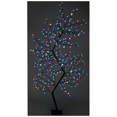 2.1m Multi-colour Zig-zag Tree Xmas Lights Indoor Outdoor Christmas Decoration