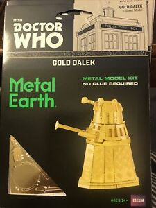 Steel Model Kit Doctor Who Gold Dalek Limited Edition Collectable
