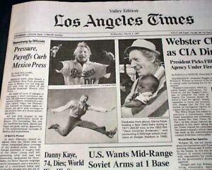 Best-DANNY-KAYE-Jewish-Film-Movie-Actor-SINGER-Dancer-DEATH-1987-L-A-Newspaper