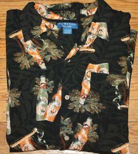 16f56906 Men's Puritan short sleeve Hawaiian beer cigar beach shirt size L ...