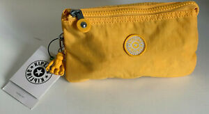 KIPLING-CREATIVITY-LARGE-TRAVEL-POUCH-MAKEUP-BAG-ORGANIZER-WALLET-VIVID-YELLOW