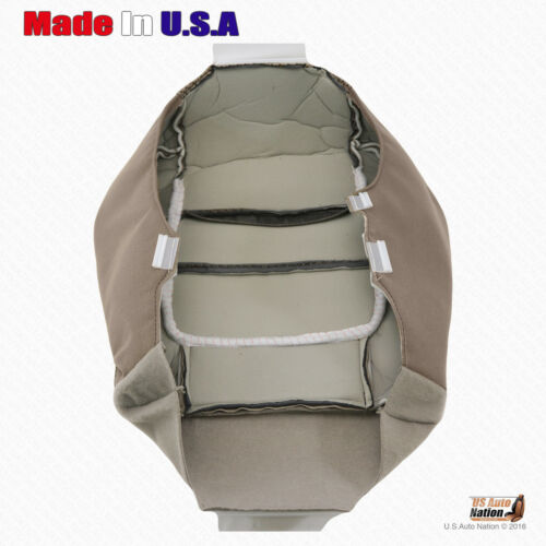 2001 2002 Ford F150 XLT Front DRIVER Bottom Cloth Seat Cover Med Parchment Tan