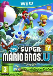 NEW-Super-Mario-Bros-Wii-Menta-U-U-nello-stesso-giorno-di-spedizione-1st-Class-consegna-super-veloce