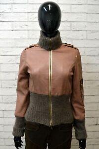 Giacca-in-Vera-Pelle-Donna-Cappotto-Slim-HAUTE-Taglia-S-Giubbotto-Jacket-Leather