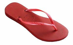 c095bbb76661e3 Havaianas Women`s Flip Flops Slim Style Red Sexy Brazilian Sandals ...