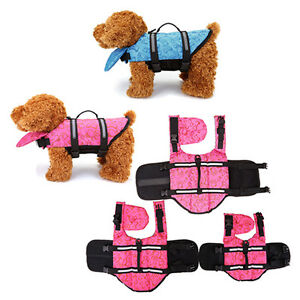 Pet-Dog-Life-Preserver-Jacket-Swim-Surf-Safety-Flotation-Vest-All-Sizes-Vest