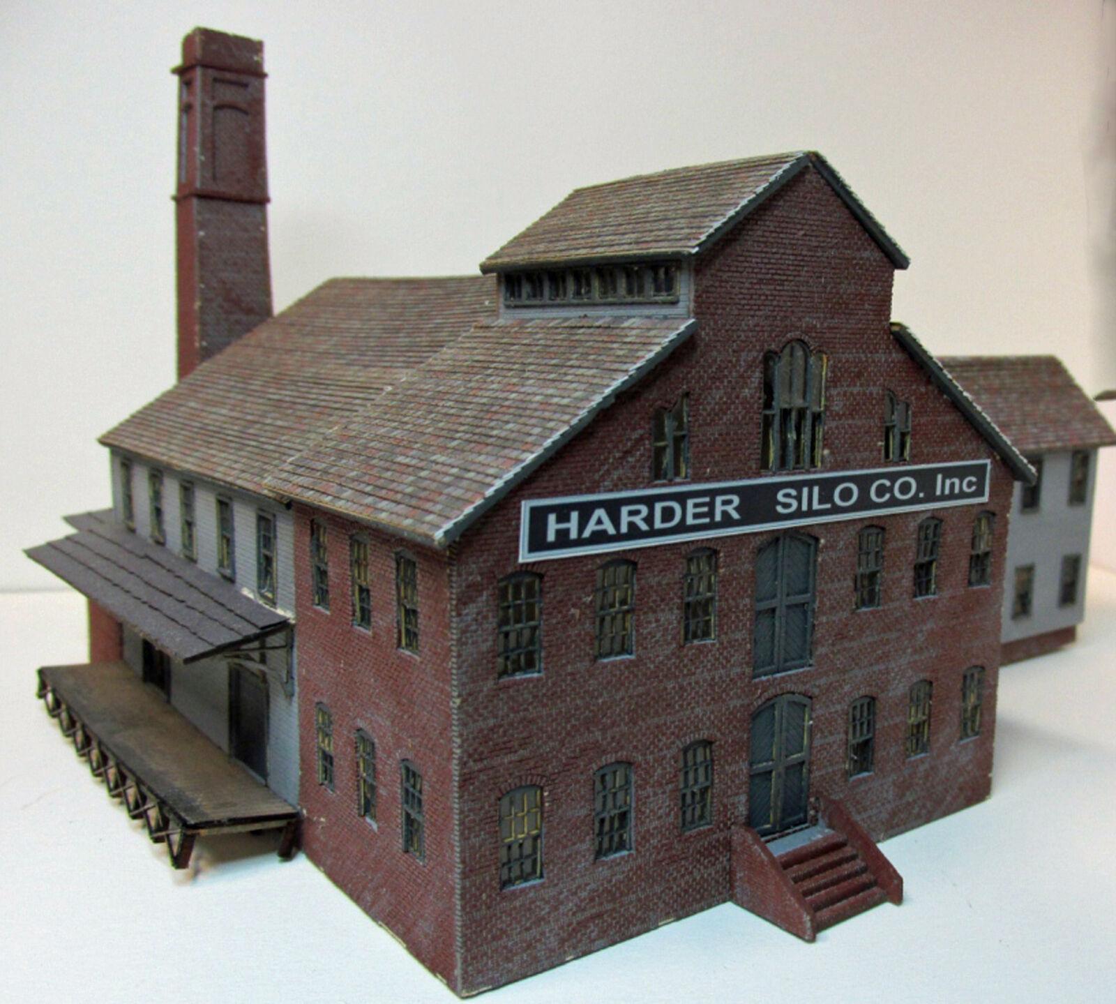 FACTORY BUILDING HO Scale Model Railroad Structure Structure Structure Unptd Wood Laser Kit RSL2057 cd9cb6