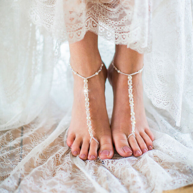 1a1c9395e732a Starfish Barefoot Sandals Bridal Foot Jewelry Beaded Beach Wedding Jewelry