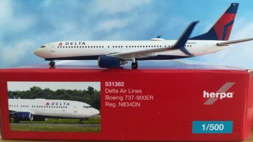n834dn ** Herpa Wings 1:500 artículo nuevo 531382 delta air lines boeing 737-900er