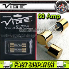 Vibe AGU60 60A Amp Car Glass Fuses For AGU Fuse Holder