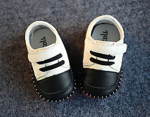 Baby-Shower-Boys-White-Christening-Wedding-Party-Genuine-leather-first-Shoes