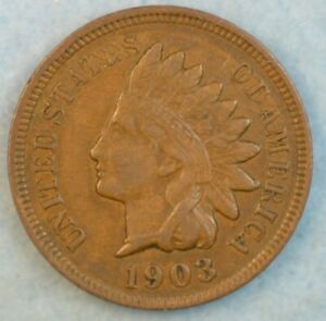 1903-Indian-Head-Cent-Penny-Liberty-Very-Nice-Vintage-Old-Coin-Fast-S-amp-H-34011