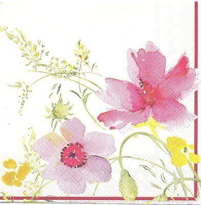 2 Serviettes en papier Fleur Coquelicot été Paper Napkins Poppy Flower Summer