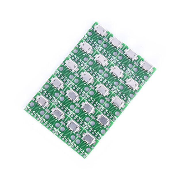 20x micro usb to DIP 2.54mm adapter connector module board panel female 5-pin Js