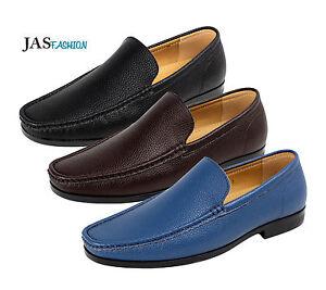6af09377 La imagen se está cargando Hombre-Nauticos-Zapatos -sin-Cordones-Casuales-Piel-Elegante-