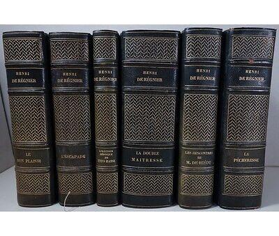 L'oeuvre romanesque de Henri de Régnier 6 vol. illustrés sur Japon EAS à Pozner