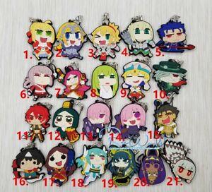 Details about Fate Grand Order FGO Nero Saber Gilgamesh Keychain Anime  Rubber Strap Charm Gift