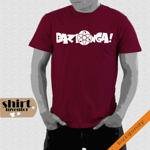 Bazinga Big Bang Theory Sheldon Nerd Fun modern T-Shirt bis 5XL TD024