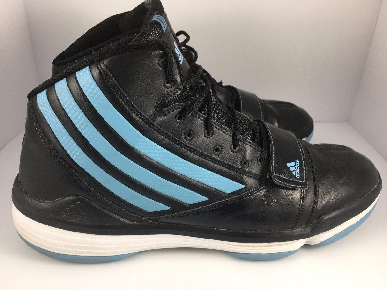 Adidas Men's Adiprene Black & Blue High Top Shoes G09506 Sz 15