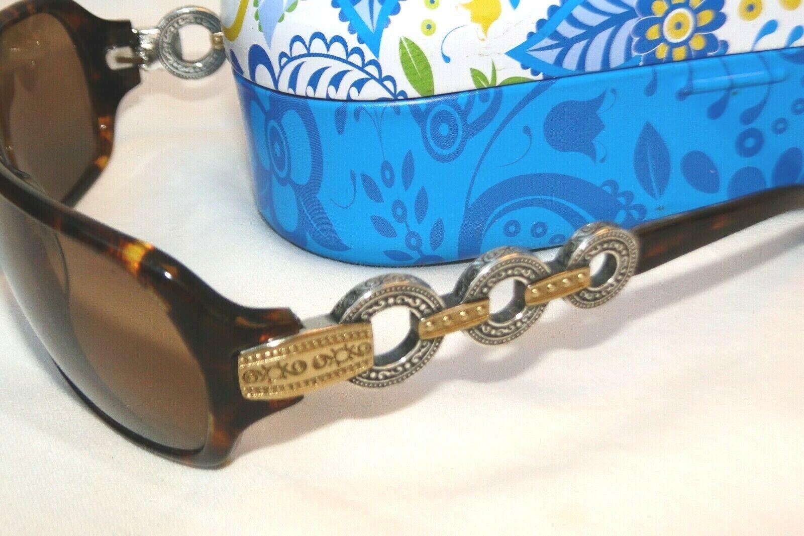 Authentic Brighton Central Park Tortoise Silver Gold Sunglasses