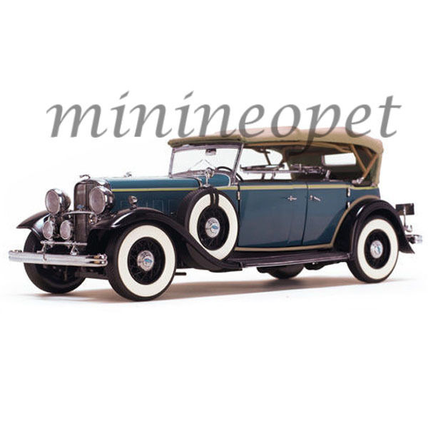 SUN STAR 6161 1932 FORD LINCOLN KB Top up 1 18 Diecast Voiture Modèle bleu