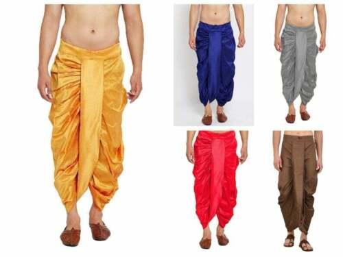 Details about  /Indian Trouser Dupion Silk Dhoti Men/'s Patiala Dhoti Pant Fashion Dhoti Salwar