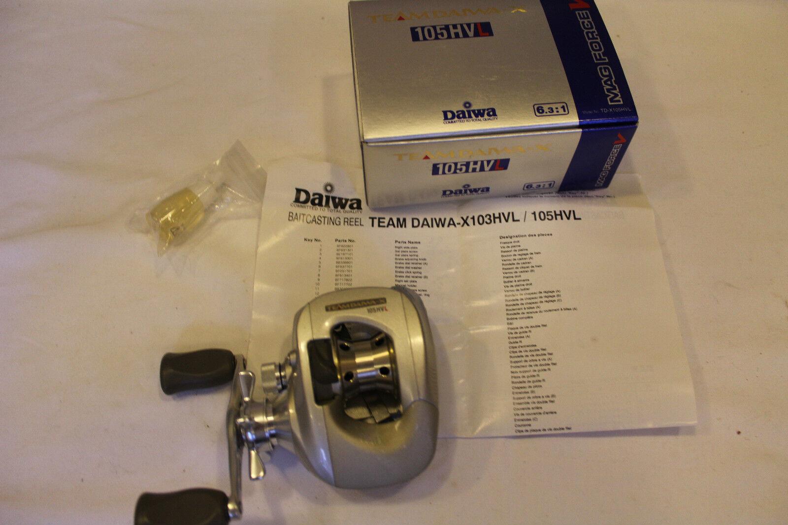 Daiwa 105hvl  Team Daiwa  - Left Hand-Made in Japan-NR 283