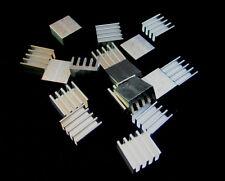 10x mini Aluminium Kühlkörper 8.8mm x 8.8mm x 5mm