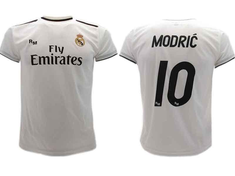 Maglia Ufficiale Modric Real Madrid  Luka Luka Luka Ufficiale n.10 Camiseta 2018-2019   Elegante e solenne    Outlet Online    Outlet Online Shop    Nuovo Arrivo  9ff1af