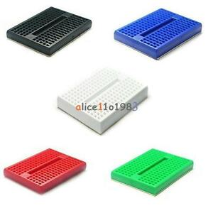 5 Color Mini Solderless Prototype Breadboard 170 Tie-points For Arduino Shield