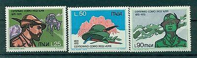 Italia Repubblica 1972 - B.1274/76 - Centenario Alpini