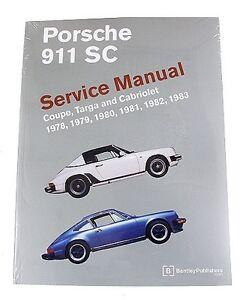 porsche 911sc service manual by bentley publishing ebay. Black Bedroom Furniture Sets. Home Design Ideas