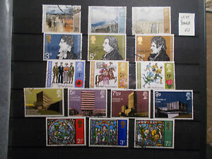 GB-1971-Commemorative-Stamps-Year-Set-Very-Fine-Used-ex-fdc-UK-Seller