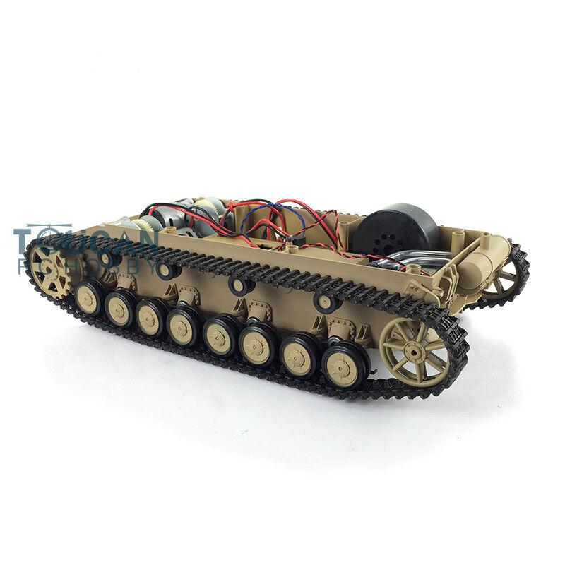 Panzer IV alemán henglong Tanque RC F 1 16 3858 pistas de plástico llantas chasis con