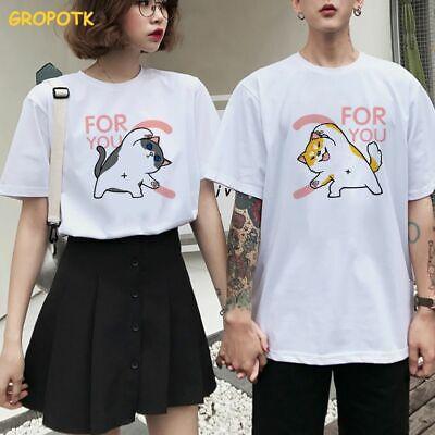 Otter Tops Tee Animal Couple Love Theme Casual Tshirt O Neck Female Tops