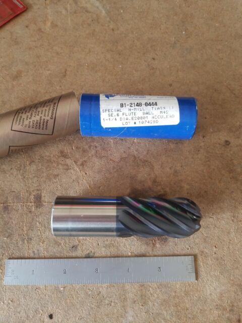 "MF420011919 1//2/"" 4-Flute Cobalt NCC Plunge Cut End Mill .020/"" Radius"