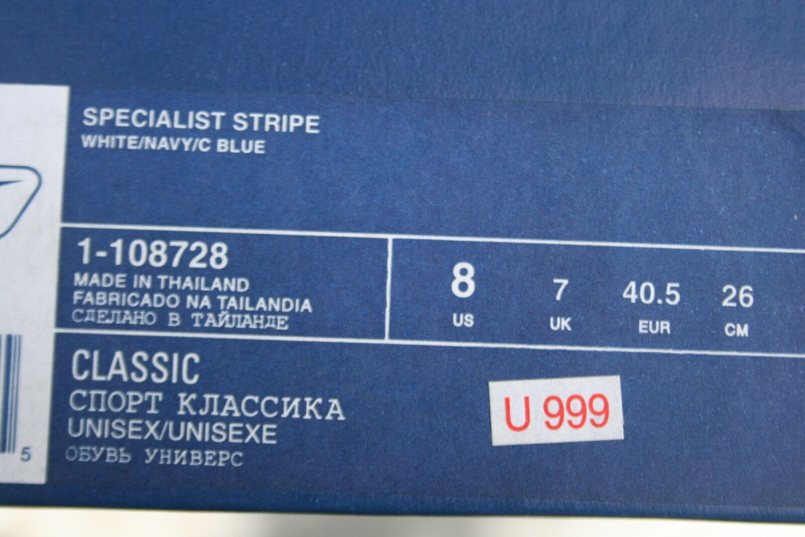 Reebok BIANCO BLU TG. 40,5 RB 402 WFC Scarpe Scarpe Scarpe Sportive Specialist Stripe 1-108728 - NUOVO | Consegna Immediata  cf0075