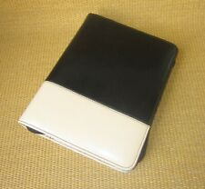 Classic Franklin Covey Black Cream Faux Leather Mia 15 Ring Plannerbinder