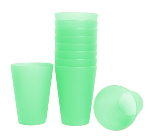 68x distributeurs potable gobelet vert 0,4 L Plastique Plastique Fête Vacances Gobelet