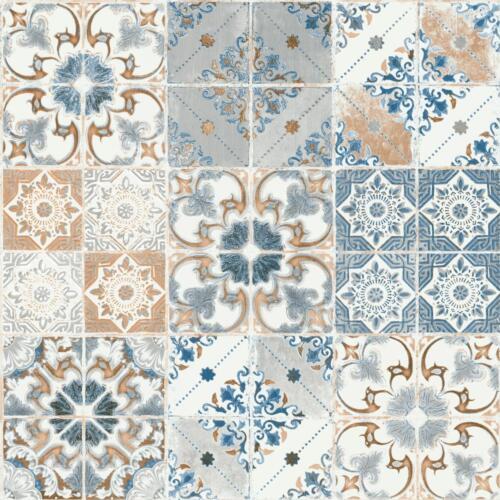 Debona Valencia Tile Wallpaper Realistic Effect Metallic Floral Motif 5011
