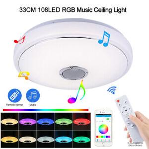 LED-Deckenleuchte-60w-Bluetooth-Musik-Lautsprecher-Fernbedienung-RGB-farbig-Lampe