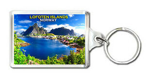 LOFOTEN ISLANDS NORWAY KEYRING SOUVENIR LLAVERO